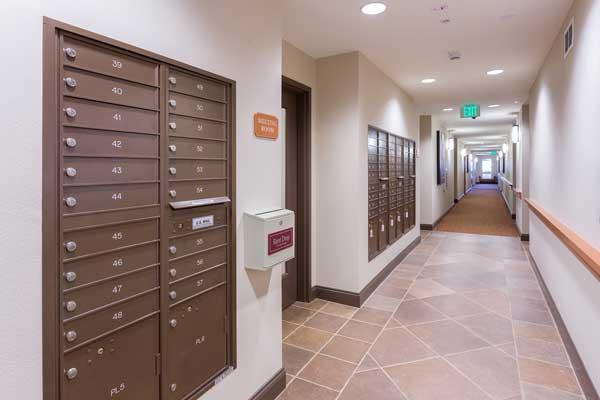 Cotton's point senior apartments lobby
